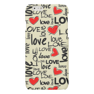 Love Red Heart Pattern Matte iPhone 6 Case