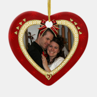 Love Red Heart Personalized Photo Ornament