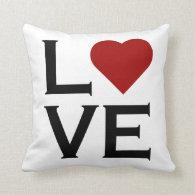 Love Red Heart Pillow