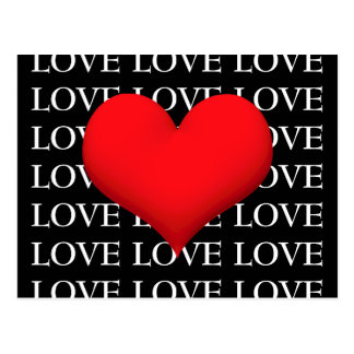 LOVE  Red Heart Postcard