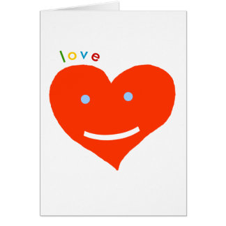 love red heart- smile :) greeting card