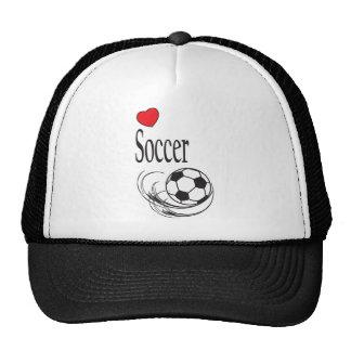 Love Red Heart Soccer Ball Trucker Hat