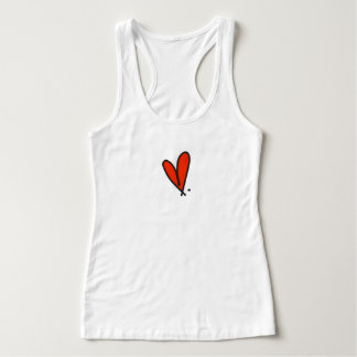love. red heart tank top.