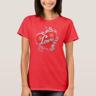 Love Red Heart Women's Hanes ComfortSoft T-Shirt