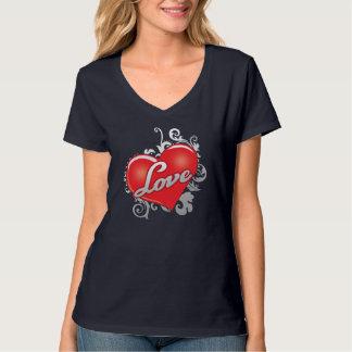 Love Red Heart Women's Hanes Nano V-Neck T-Shirt