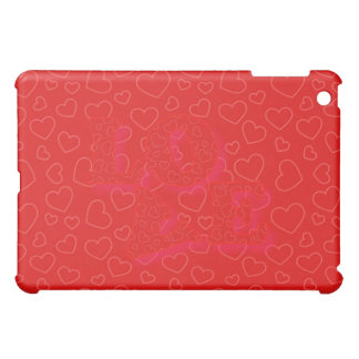 LOVE RED HEARTS by SHARON SHARPE Case For The iPad Mini