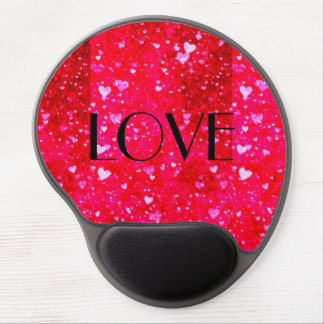 LOVE Red hearts collage pattern by healing love Gel Mousepad