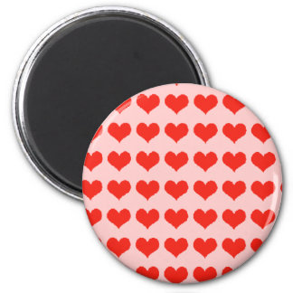 Love red hearts magnet