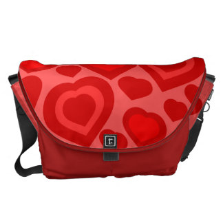 love,red hearts, messenger bag