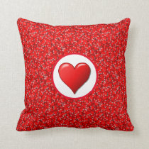 Love Red Hearts Valentine's Day Decorative Pillow