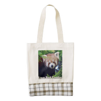 Love Red Pandas Zazzle HEART Tote Bag