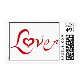 Love - red postage