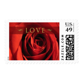 Love-Red Rose Medium Postage