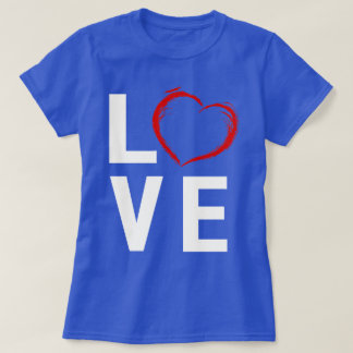 Love Red Sketched Heart T-Shirt
