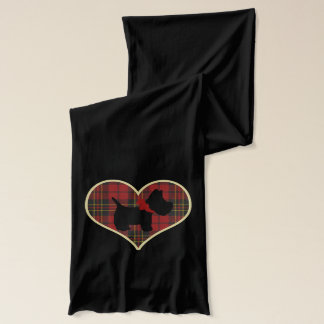 Love Red Tartan Scarf
