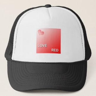 LOVE RED TRUCKER HAT