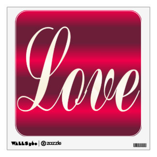 Love red wall graphic