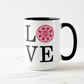 LOVE Red White & Black Mug