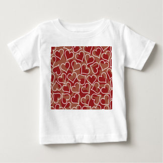 Love Red & White Hearts Baby T-Shirt