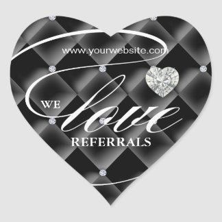 Love Referrals Sticker Jewelry Heart