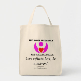 Love reflects love, be a mirror! tote bag