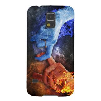 Love Relationships Fire Smoke Hands Touching Galaxy S5 Case