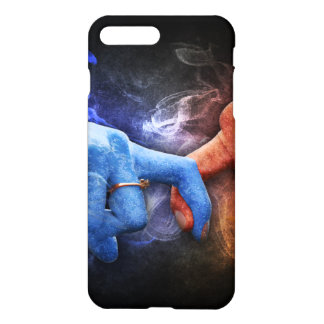 Love Relationships Fire Smoke Hands Touching iPhone 7 Plus Case