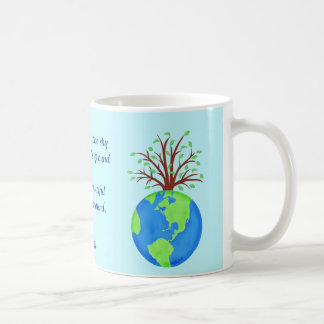 Love Respect Earth Poem Art Blue Name Personalized Coffee Mug