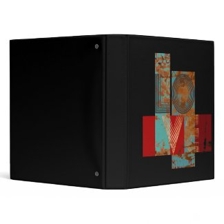 Love retro sign in blue and red binder