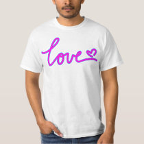 Love Retro Style Text T Shirt