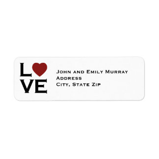 Love Return Address Labels
