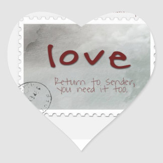love return it to sender we all need LOVEE Heart Sticker