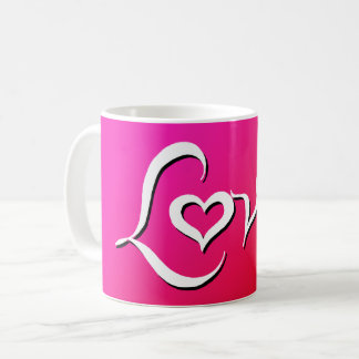 Love - reverse pink blend coffee mug