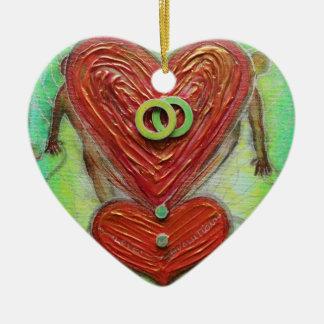 Love Revolution Ceramic Ornament
