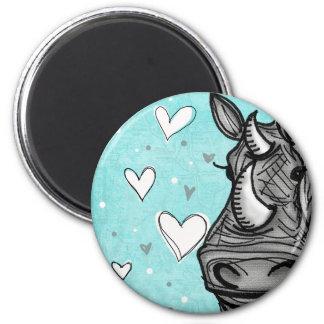 love rhino refrigerator magnet