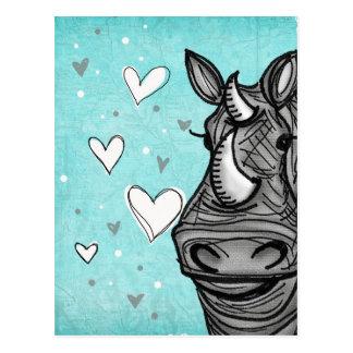 love rhino postcard