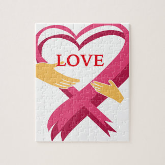LOVE RIBBON JIGSAW PUZZLE