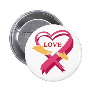 LOVE RIBBON PINBACK BUTTON