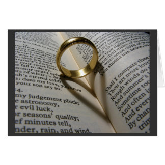 Love Ring Stationery Note Card