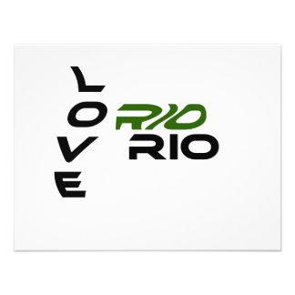 Love Rio Green Custom Announcements