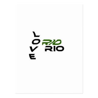 Love Rio Green Postcard