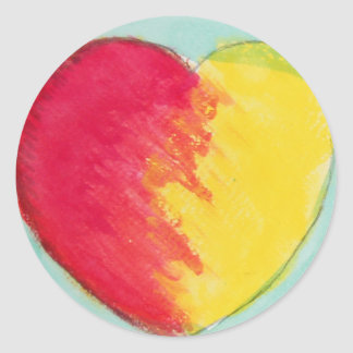 love rise classic round sticker