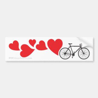 Love Road Cycling Car Bumper Sticker