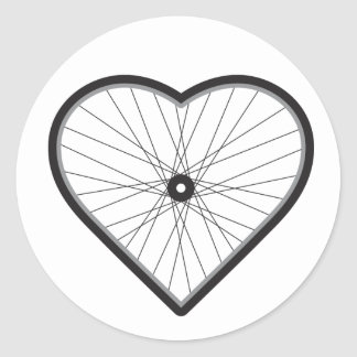 Love Road Cycling Classic Round Sticker