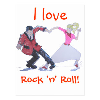 Love Rock and Roll! Postcard