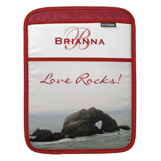 Love Rocks Monogram Personalized iPad Sleeve
