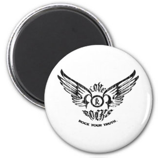 LOVE ROCKS Spreading Wings 2 Inch Round Magnet