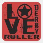 LOVE Roller Derby Square Sticker