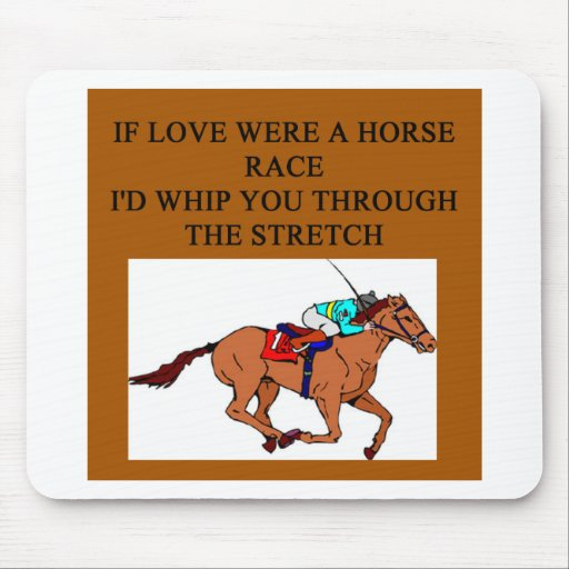 love, romance an horse racing mouse pads