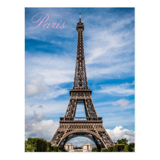 Love & Romance City of Paris Eiffel Tower France Postcard